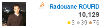 profile for Radouane ROUFID at Stack Overflow, Q&A for professional and enthusiast programmers