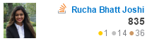 profile for Rucha Bhatt Joshi at Stack Overflow, Q&A for professional and enthusiast programmers