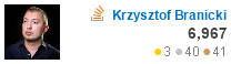 profile for Krzysztof Branicki at Stack Overflow, Q&A for professional and enthusiast programmers