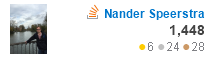 profile for Nander Speerstra at Stack Overflow, Q&A for professional and enthusiast programmers