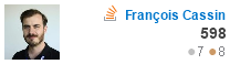 profile for François Cassin at Stack Overflow, Q&A for professional and enthusiast programmers