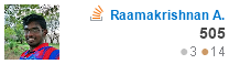 profile for Raamakrishnan A. at Stack Overflow, Q&A for professional and enthusiast programmers