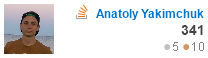 profile for Anatoly Yakimchuk at Stack Overflow, Q&A for professional and enthusiast programmers