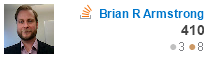 profile for Brian R Armstrong at Stack Overflow, Q&A for professional and enthusiast programmers