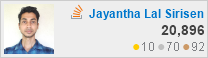 profile for Jayantha at Stack Overflow, Q&A for professional and enthusiast programmers