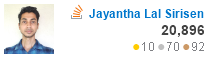 profile for Jayantha Lal Sirisena at Stack Overflow, Q&A for professional and enthusiast programmers