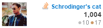 profile for Schrodinger's cat at Stack Overflow, Q&A for professional and enthusiast programmers