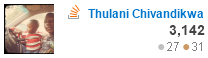 profile for Thulani Chivandikwa at Stack Overflow, Q&A for professional and enthusiast programmers