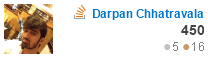 profile for Darpan Chhatravala at Stack Overflow, Q&A for professional and enthusiast programmers