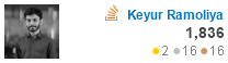 profile for Keyur Ramoliya at Stack Overflow, Q&A for professional and enthusiast programmers