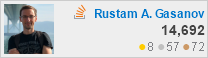 Profile for rustam-a-gasanov at Stack Overflow, Q&A for professional and enthusiast programmers