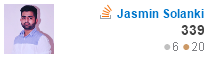 profile for Jasmin Solanki at Stack Overflow, Q&A for professional and enthusiast programmers