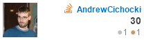 profile for AndrewCichocki at Stack Overflow, Q&A for professional and enthusiast programmers