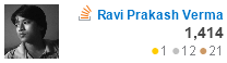 profile for Ravi Prakash Verma at Stack Overflow, Q&A for professional and enthusiast programmers