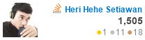 profile for Heri Hehe Setiawan at Stack Overflow, Q&A for professional and enthusiast programmers