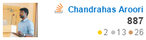 profile for Chandrahas Aroori at Stack Overflow, Q&A for professional and enthusiast programmers