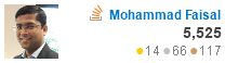 profile for Mohammad Faisal at Stack Overflow, Q&A for professional and enthusiast programmers