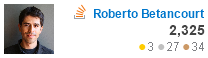 profile for Roberto Betancourt at Stack Overflow, Q&A for professional and enthusiast programmers