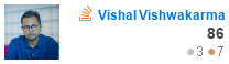 profile for Vishal Vishwakarma at Stack Overflow, Q&A for professional and enthusiast programmers