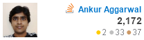 profile for Ankur Aggarwal at Stack Overflow, Q&A for professional and enthusiast programmers