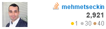 profile for mehmetseckin at Stack Overflow, Q&A for professional and enthusiast programmers
