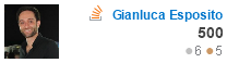 profile for Gianluca Esposito at Stack Overflow, Q&A for professional and enthusiast programmers