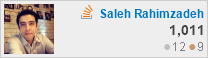 profile for Saleh Rahimzadeh at Stack Overflow, Q&A for professional and enthusiast programmers