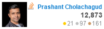 profile for Prashant Cholachagudda at Stack Overflow, Q&A for professional and enthusiast programmers