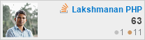 profile for Lakshmanan PHP at Stack Overflow, Q&A for professional and enthusiast programmers