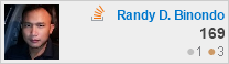 profile for Randy D. Binondo at Stack Overflow, Q&A for professional and enthusiast programmers