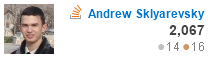 profile for Andrew Sklyarevsky at Stack Overflow, Q&A for professional and enthusiast programmers