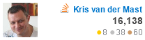 profile for Kris van der Mast at Stack Overflow, Q&A for professional and enthusiast programmers