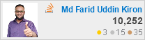 profile for Md Farid Uddin Kiron at Stack Overflow, Q&A for professional and enthusiast programmers