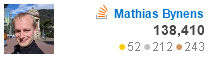 profile for Mathias Bynens at Stack Overflow, Q&A for professional and enthusiast programmers